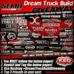 SEMA Dream Truck Build Giveaway! THE LUCKY WINNER WILL WINhellip